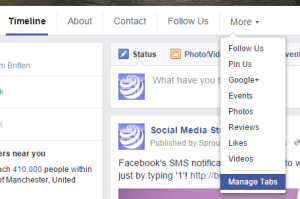 Lesser known Facebook features - Manage tabs