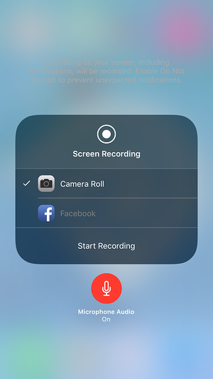 Apple's Screen Recording