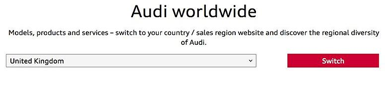 Another example from Audi
