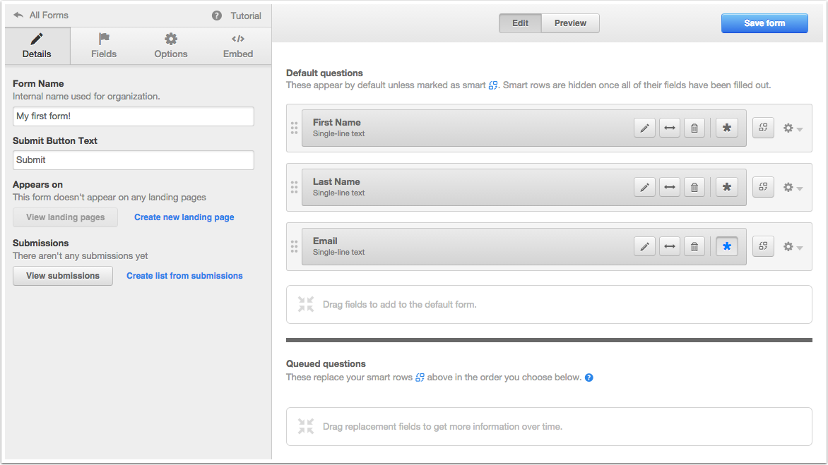 How to edit details of a form within HubSpot