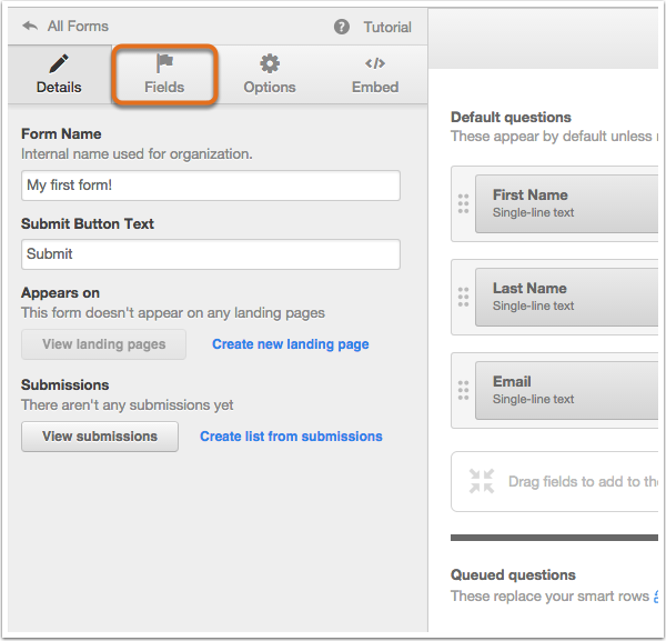 How to edit fields within a form using HubSpot